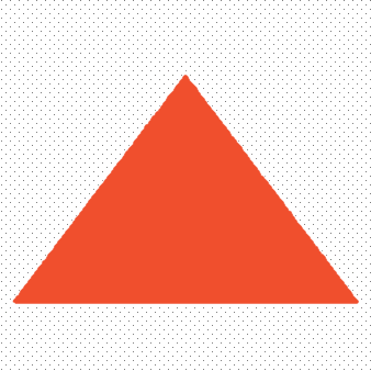 Orange triangle pointing up